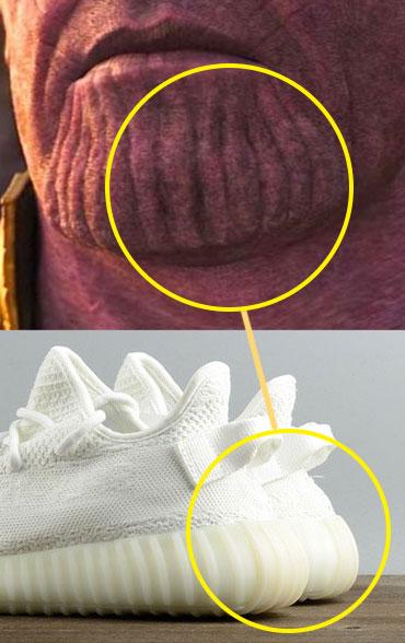 La barbilla de Thanos parecen unas Adidas Yeezy