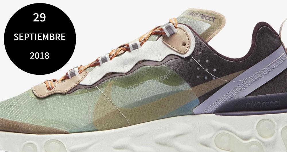 Lanzamiento zapatillas Nike React 87 Element Undercover