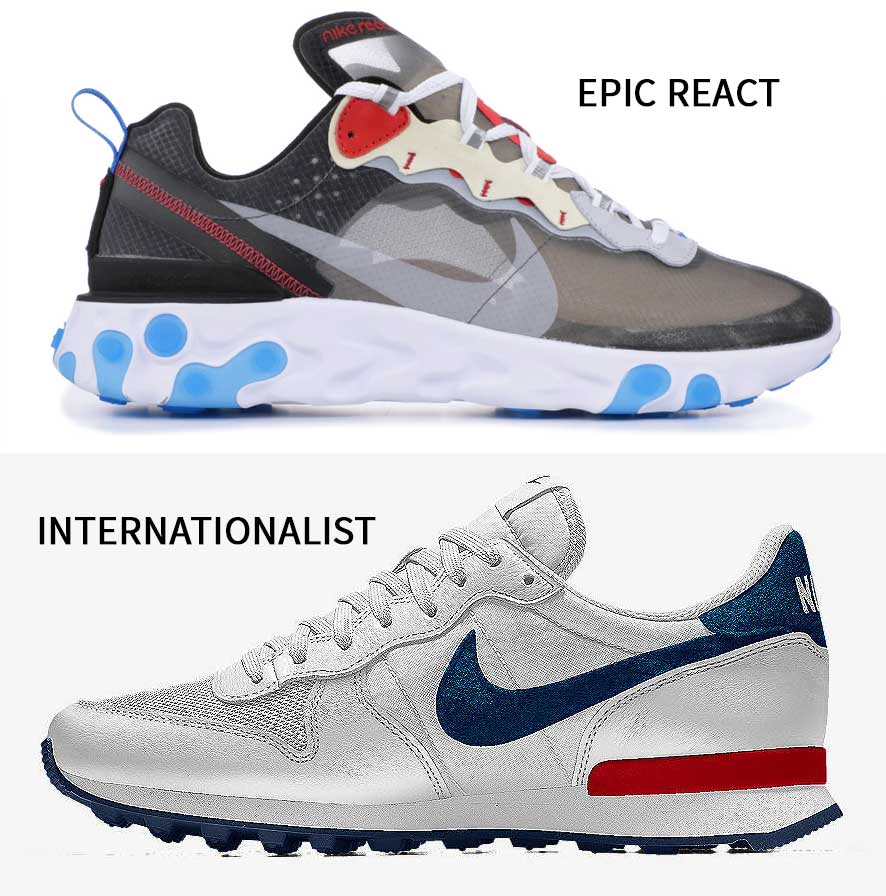 Comparativa con Nike Internationalist