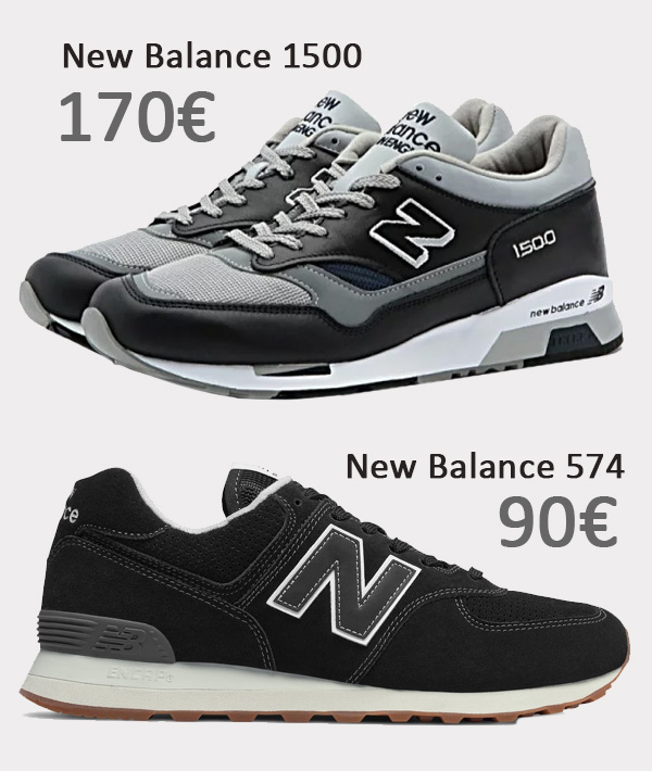 New Balance 1500 vs New Balance 574
