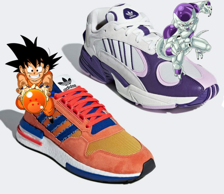 Adidas Dragon Ball con Goku niño y Freezer