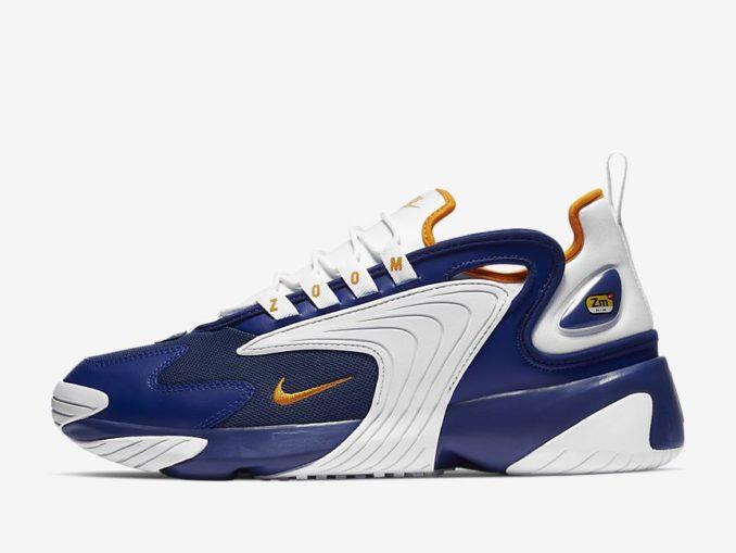 Zapatilla Nike Zoom 2K modelo Azul royal intenso/Blanco/Piel de naranja. Referencia: AO0269-400