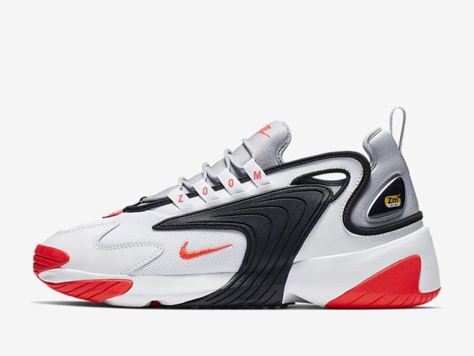 Zapatilla Nike Zoom 2K modelo Blanco/Gris lobo/Negro/Infrarrojo 23. Referencia: AO0269-105