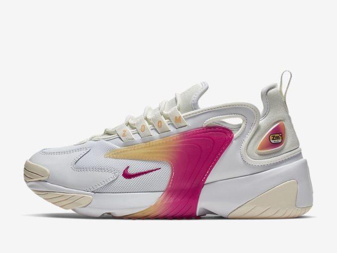 Zapatillas Nike Zoom 2K modelo blanci/vela/tinte melón/rosa enérgico. Referencia: AO0354-102