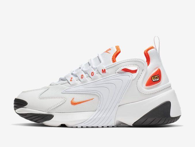 Zapatillas Nike Zoom 2K modelo tinte platino/negro/blanco/hipercarmesí. Referencia: AO0354-002