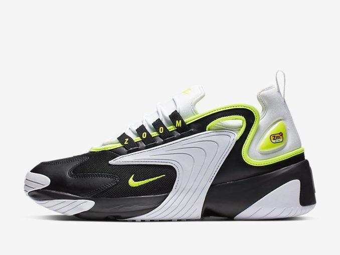 Zapatilla Nike Zoom 2K modelo Color mostrado: Negro/Blanco/Voltio. Referencia: AO0269-004
